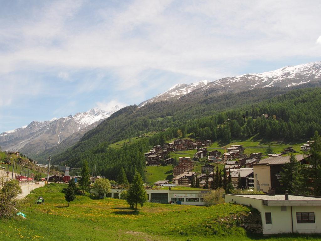 スイスツェルマットの山並み