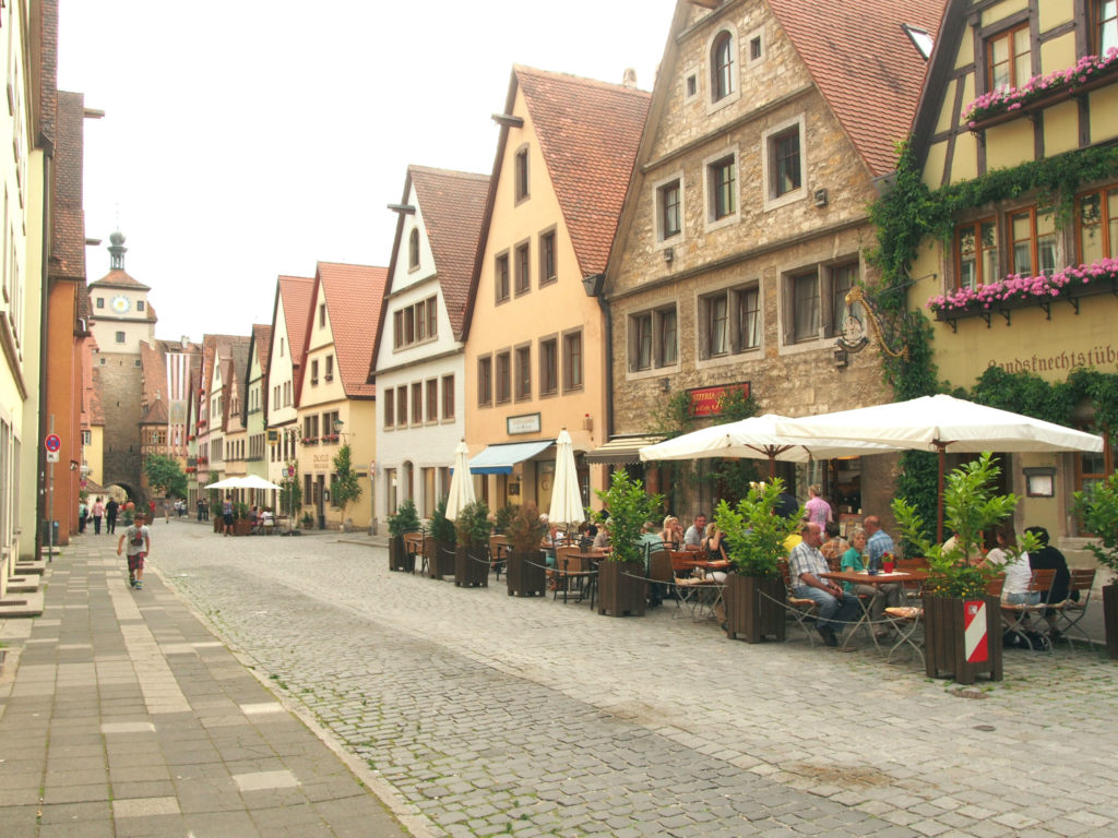 ドイツローデンブルグの街並み