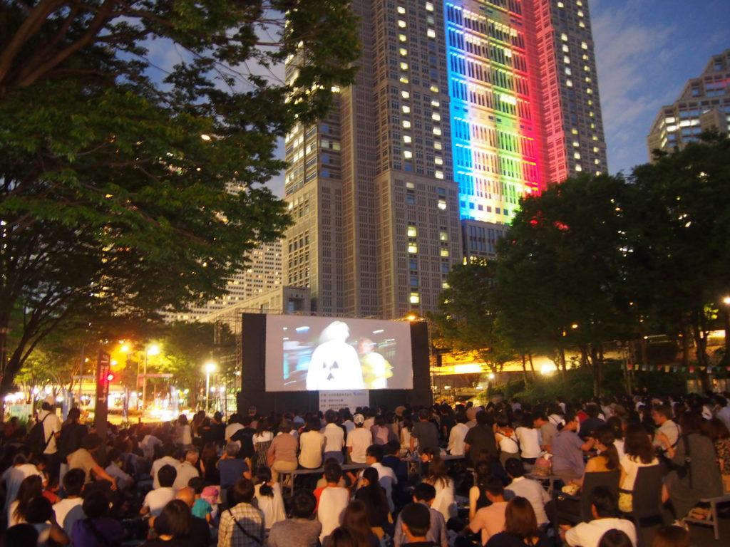 新宿の野外映画