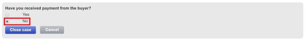 eBayオープンケース終了処理