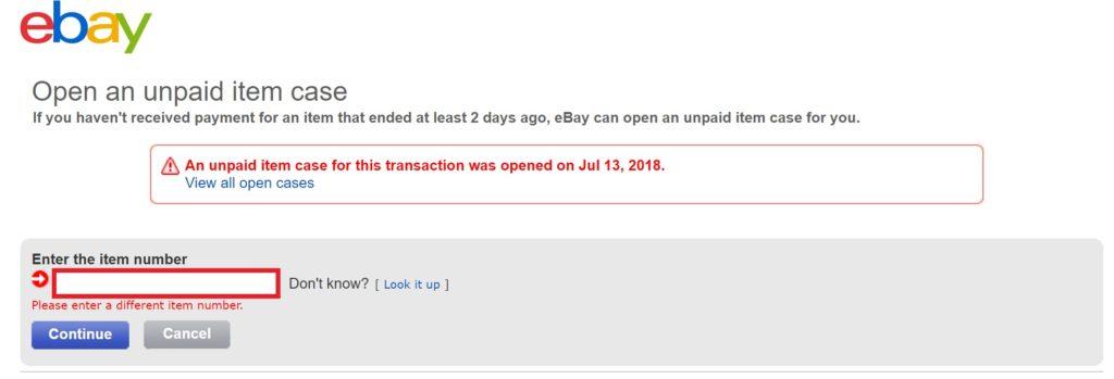 eBayオープンケース処理