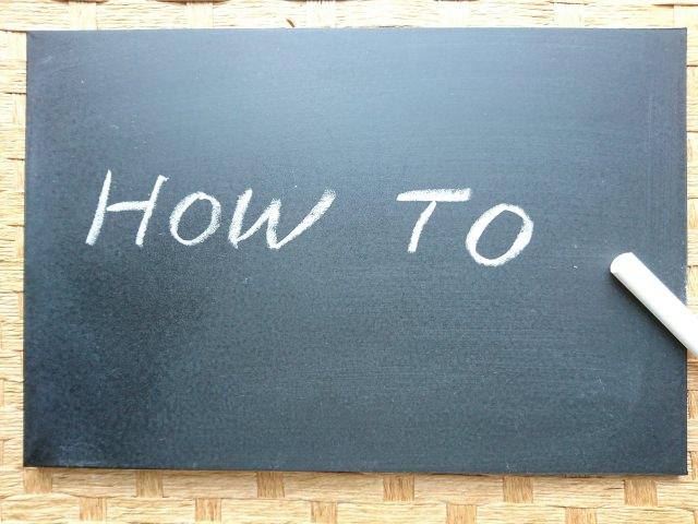 黒板に書かれたHow To (eBay輸出で利益を出すためのコツ)