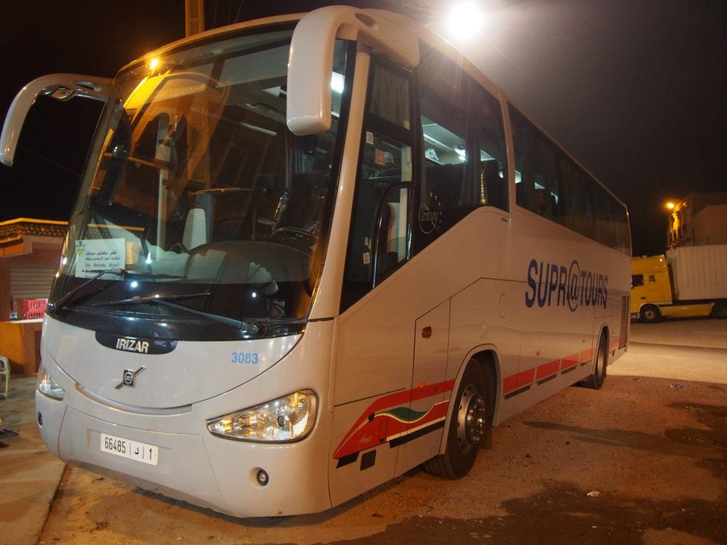 メルズーガへの夜行バス