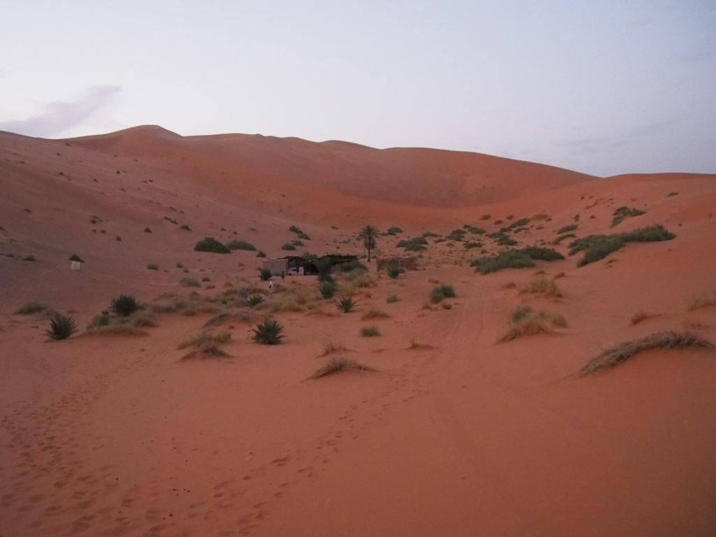 砂漠とテント