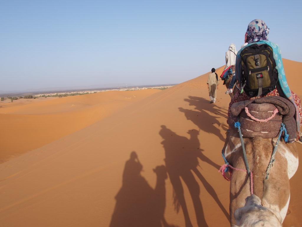 サハラ砂漠のツアー帰路