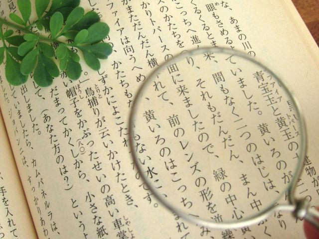 虫眼鏡と日本語(台湾での日本語需要イメージ図)